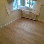 During Sanding of Small Room