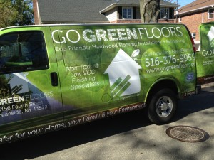 Our Go Green Floors Van