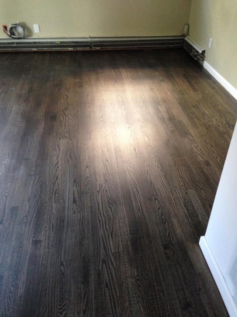 Ebony hardwood floor