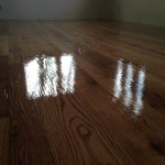 Different widths, make this floor really stand out.  Full of holes and knots helps too.