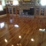 Floors were in relatively good condition so we added a top coat to prolong the life of the floor.