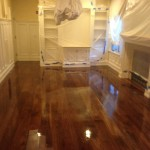 We took this applying the second coat of Oil Based Polyurethane.