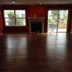 We installed this floor and refinished with Spice Brown stain  and coated with one coat of Polywhey Water based Polyurethane. If you love the look of Oil, but can't live with the fumes, we recommend Polywhey.