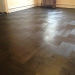 Parquet floors finished with Rubio